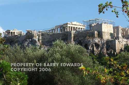 The Acropolis is always under a state of re-construction and can be seen from nearly anywhere in Athens