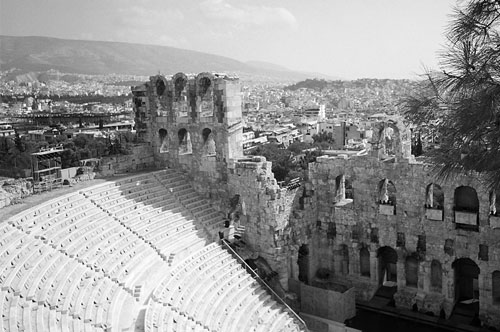 The Ampitheatre - part of the Acropolis.