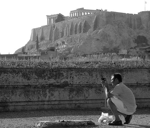 JT Krohe took this picture of Barry Edwards taking a picture. The Acropolis always looming in the background.
