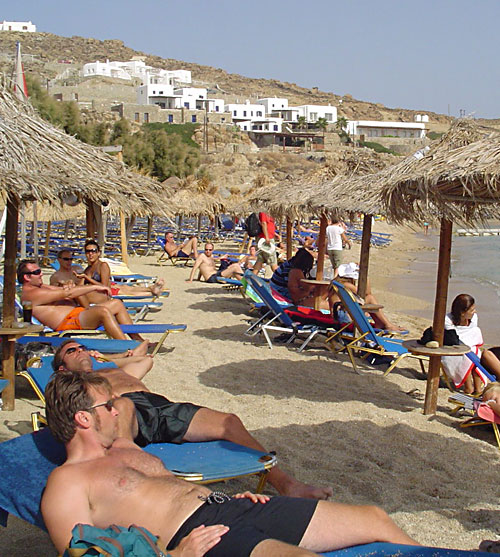 Dan Drees, Barry Edwards, Paradise Beach, Mykonos, Greece 2006
