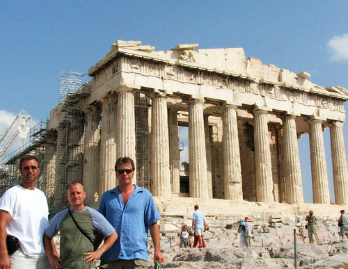 Barry Edwards, JT Krohe, Dan Drees. Parthenon, Athens Greece 2006