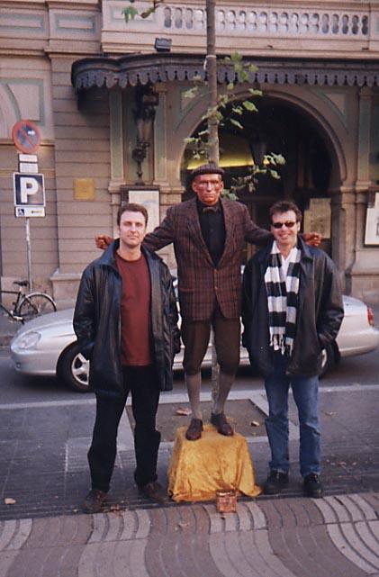 Barry Edwards and Dan Drees on the Las Ramblas, Barcelona, Spain
