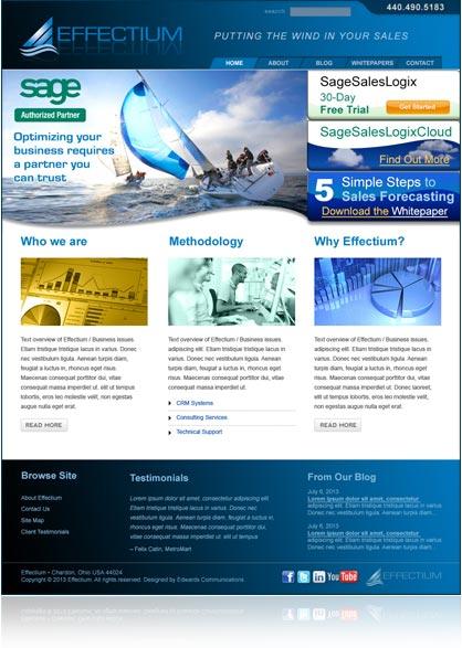 Effectium website design and production, by Edwards Communications, cleveland, ohio