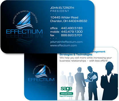 logo, slogan and business card design by Edwards Communications, Cleveland Heights, OH