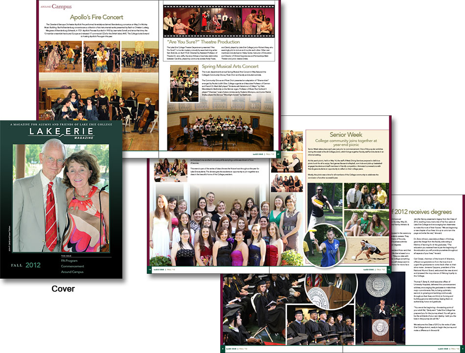 Painesville, Ohio's Lake Erie College Alumni Magazine designed by Edwards Communications, Cleveland Heights