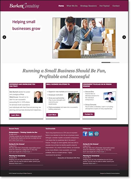 website design and production, Edwards Communications
