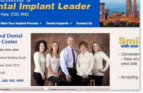 Dental Implant company- worst seo to first by Edwards Communications