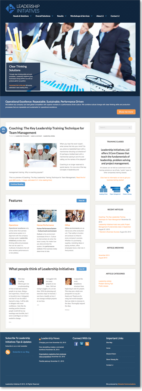 EdwardsCom.net: web design, branding, hosting, of Leadership Initiatives