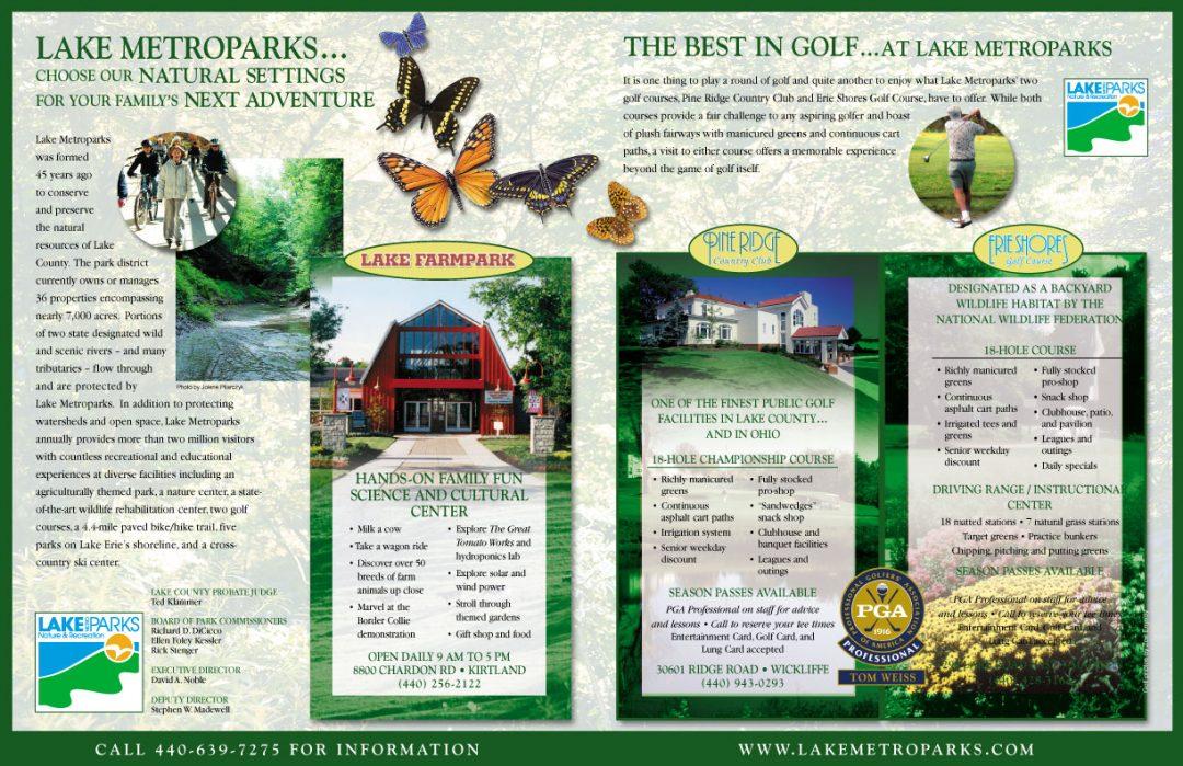 Full spread print advertisement