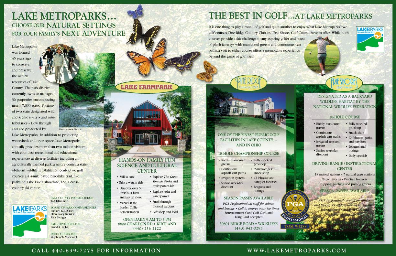 full page ad designed by Barry Edwards, Edwards Communications, Cleveland