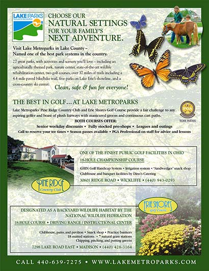 full size print ad for Lake Metroparks by Barry Edwards, EdwardsCom.net