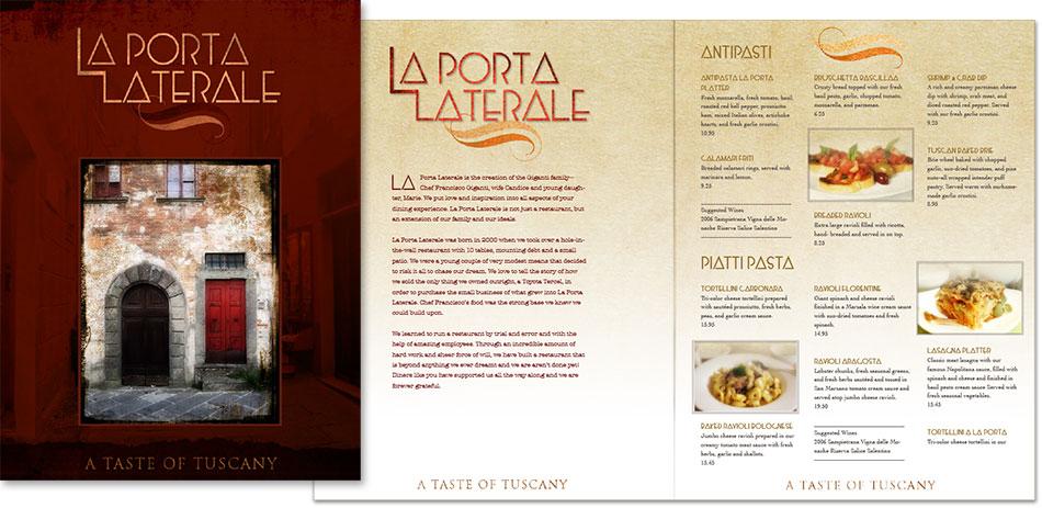 branding, logo and menu design, restaurant-edwards communications