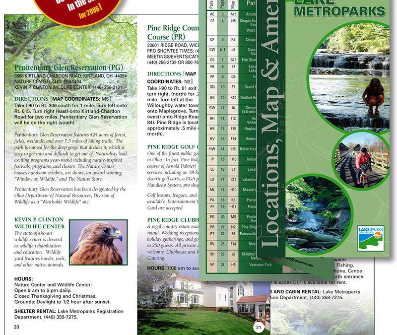 Award winning brochure design: Lake Metroparks