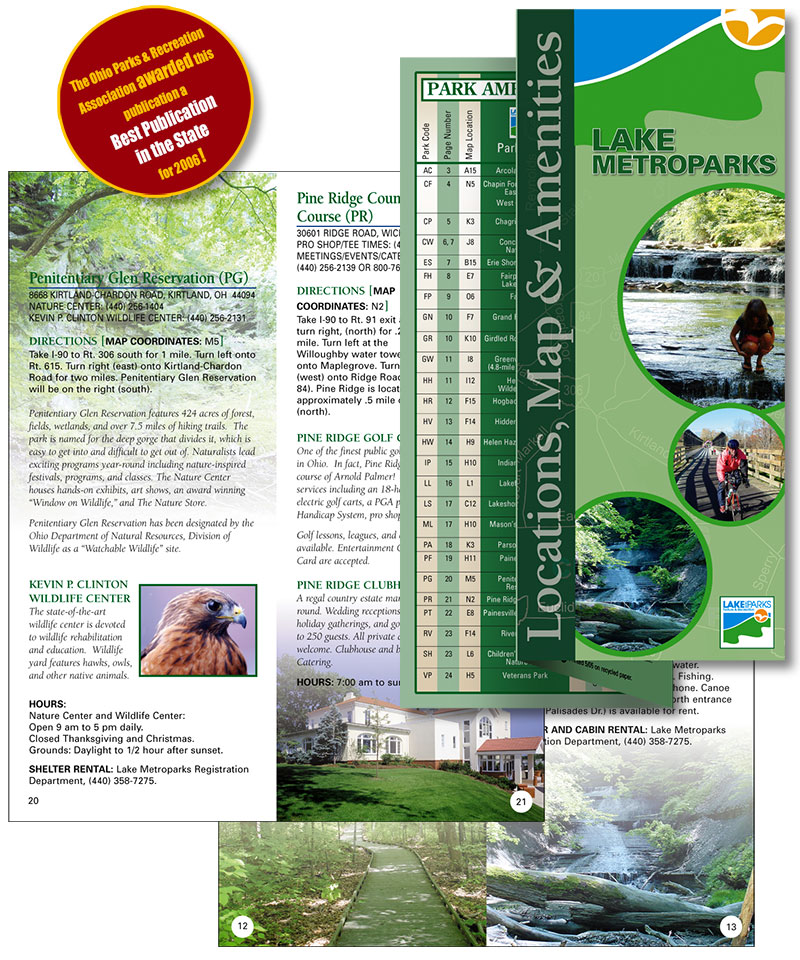 Award winning brochure for non profit by Barry Edwards, Edwards Communications