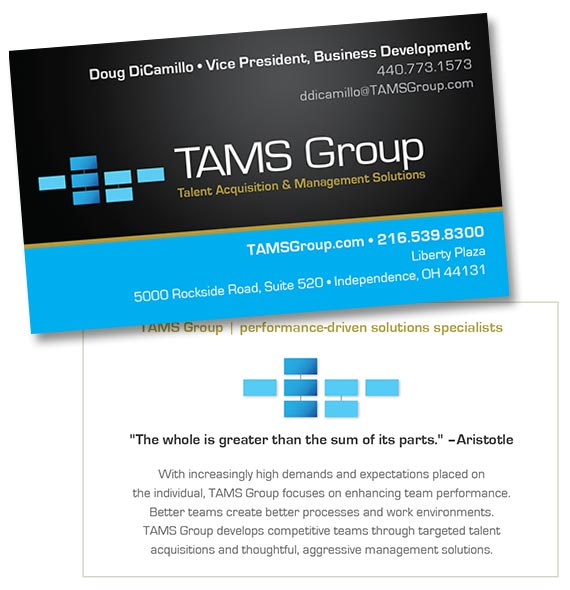 Logo, Business cards: TAMS Group