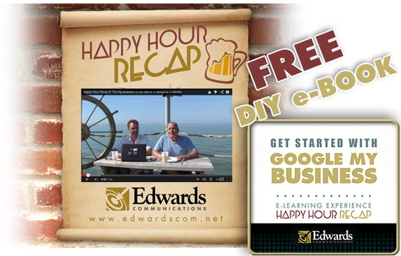 Happy Hour Recap and Free eBook guide to setting up Google My Business