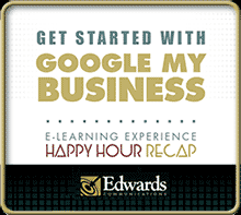 "Edwards Communication's eBook on ""Get Started with Google My Business"". From Barry and Mark of Happy Hour Recap"
