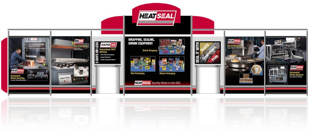 Trade show display for HeatSeal, Inc. by Barry Edwards, EdwardsCom.net, Cleveland, Ohio