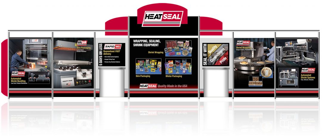 Heat Seal trade show display - Edwards Communications