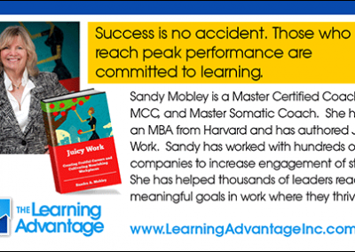 Branding: Logo/Business card from The Learning Advantage campaign