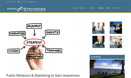 NMV Strategies website designed by Edwards Communications
