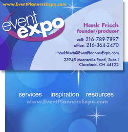 event business cards, Edwards Communications, Cleveland