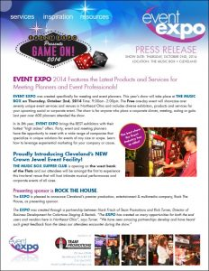 Press release for Event Expo, Cleveland