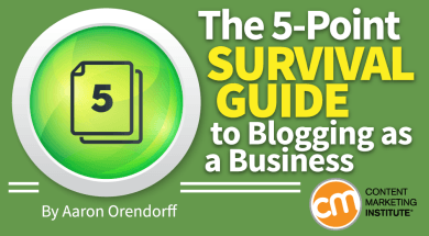 A Slice A Day #111 – The 5-Point Survival Guide to Blogging as a Business (Aaron Orendorff)