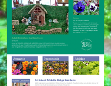 Web development, social media integration: Middle Ridge Gardens