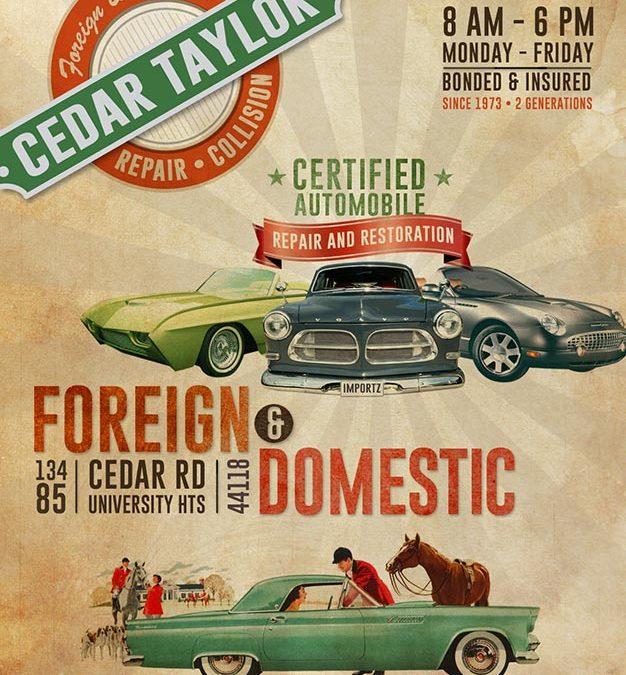 Logo & Poster: Cedar Taylor Repair & Collision
