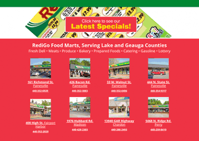 Web development: RediGo Food Marts