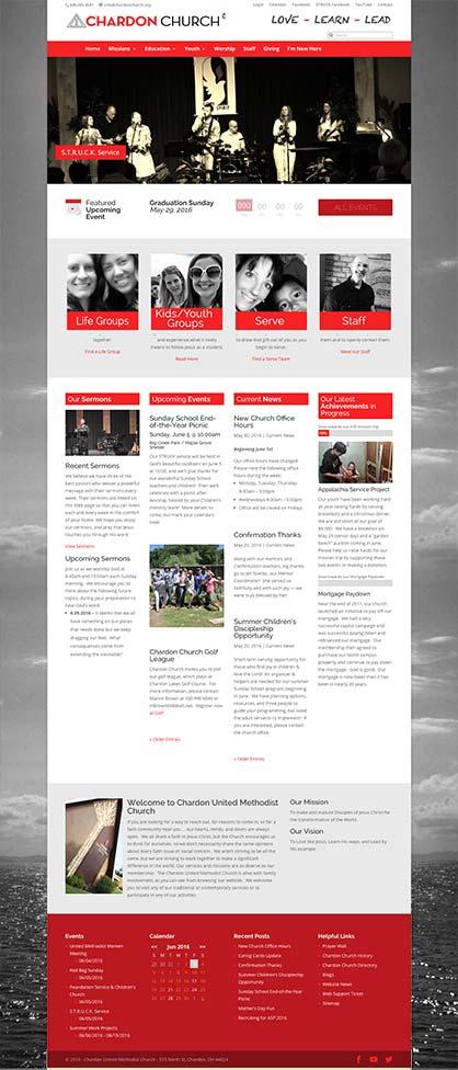 Chardon United Methodist Church website development by Edwards Communications, Cleveland, Ohio