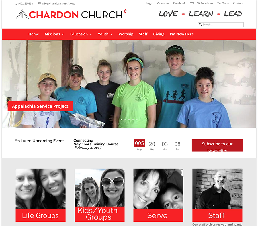 Chardon United Methodist Church website