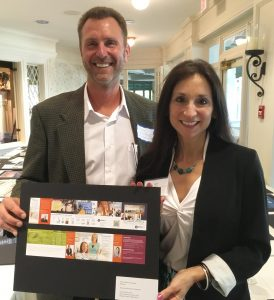 Barry Edwards and Susan Licate at 2016 Apex awards. Best brochure of 2016