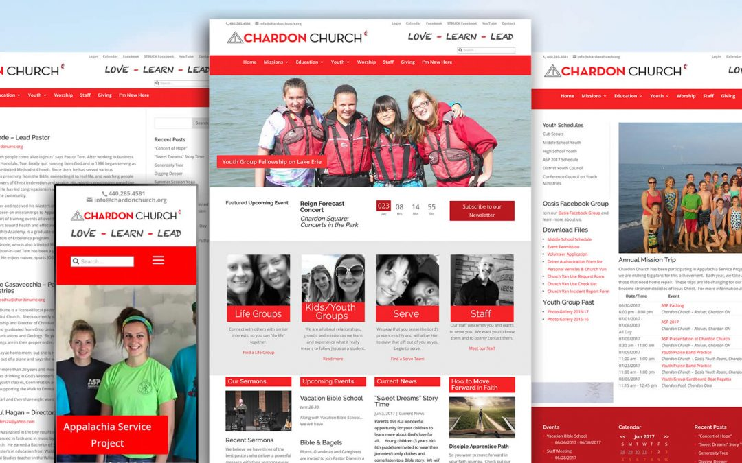 Chardon United Methodist Church website