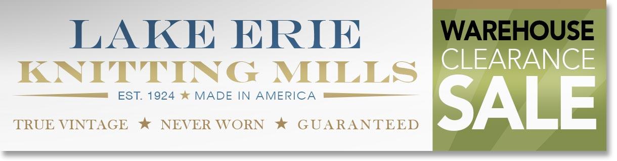 Lake Erie Knitting Mills lawn sign