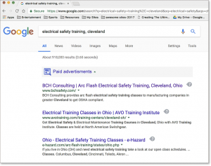 #1 in SEO ranking, BCH Safety by Barry Edwards, Edwards Communications