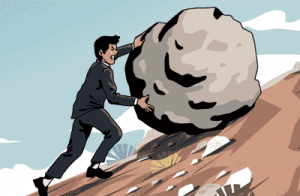 Online marketing can feel like rolling a boulder up a hill. Over 50 Starting Over online marketing training
