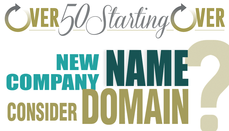 How to name your company while considering its domain name | Over 50 Starting Over