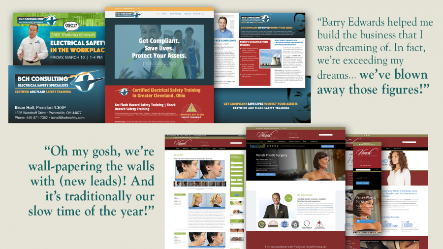 Outstanding ROI marketing case studies with BCH Electrical Safety Consulting and Vanek Plastic Surgery in Mentor Ohio