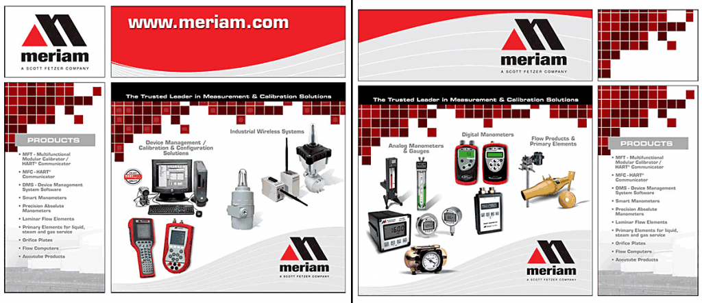 trade show display, Meriam Process Technologies. Design by Barry Edwards, Edwards Communications