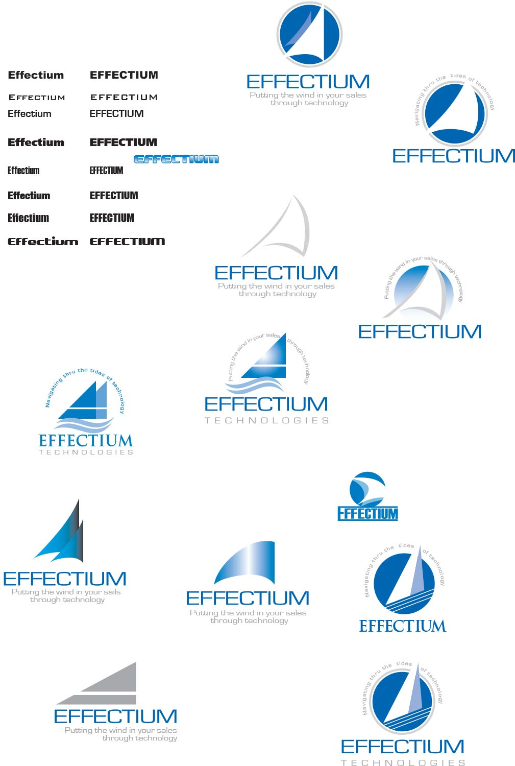 Halfway point in my Effectium logo/slogan project.